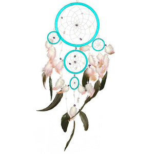 Gemstone Beads 5-Circle Turquoise Dreamcatcher