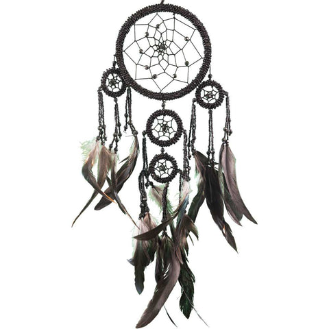 Black Beaded Dreamcatcher