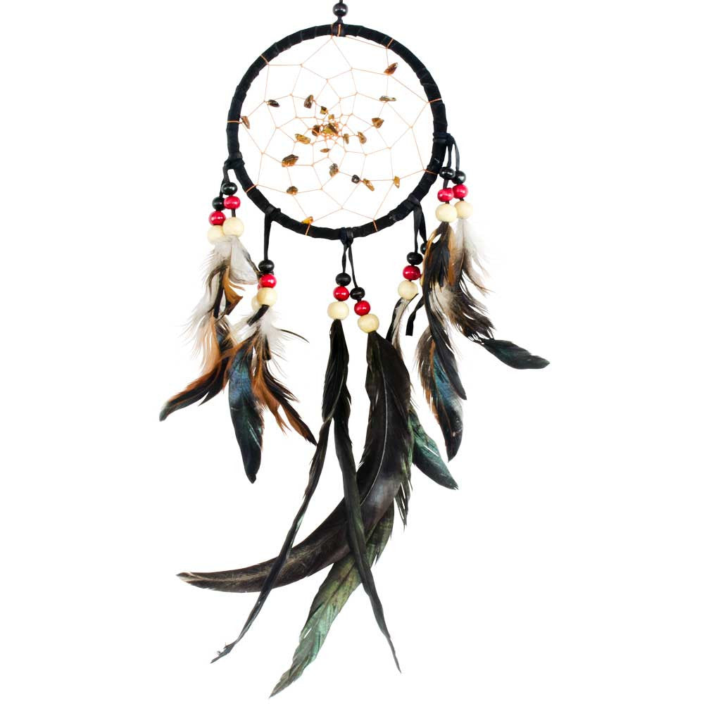 Tiger Eye Black Dreamcatcher