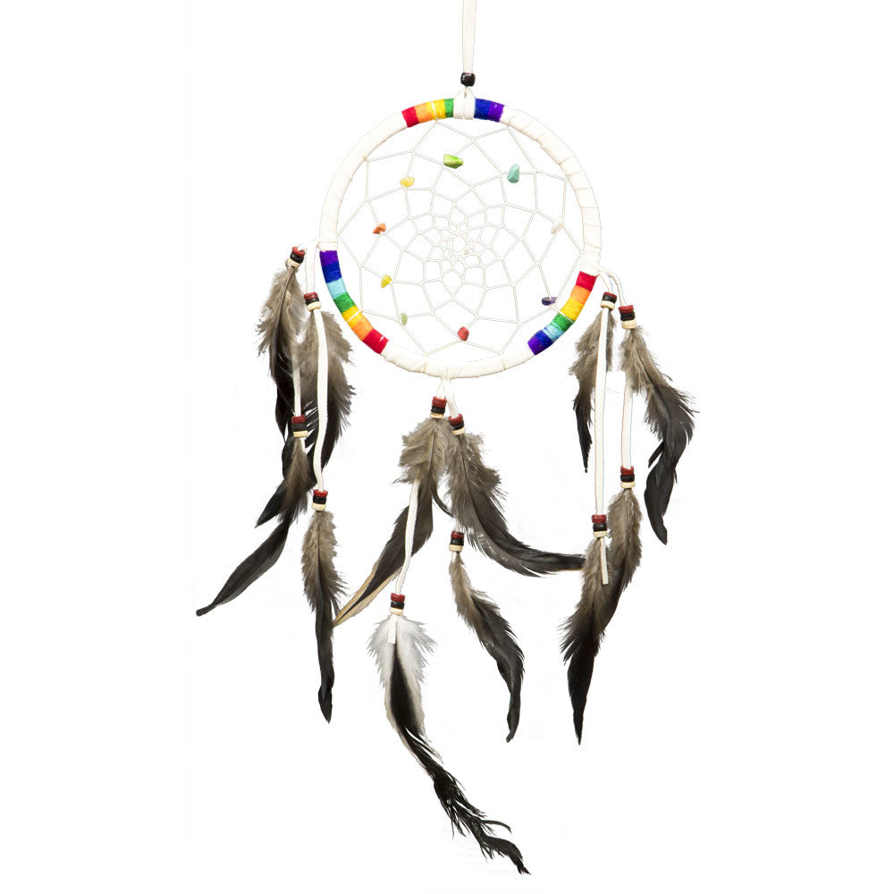 7 Chakras White Dreamcatcher