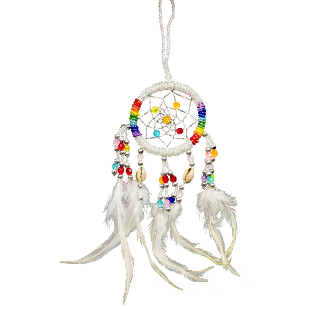White Beaded Dreamcatcher