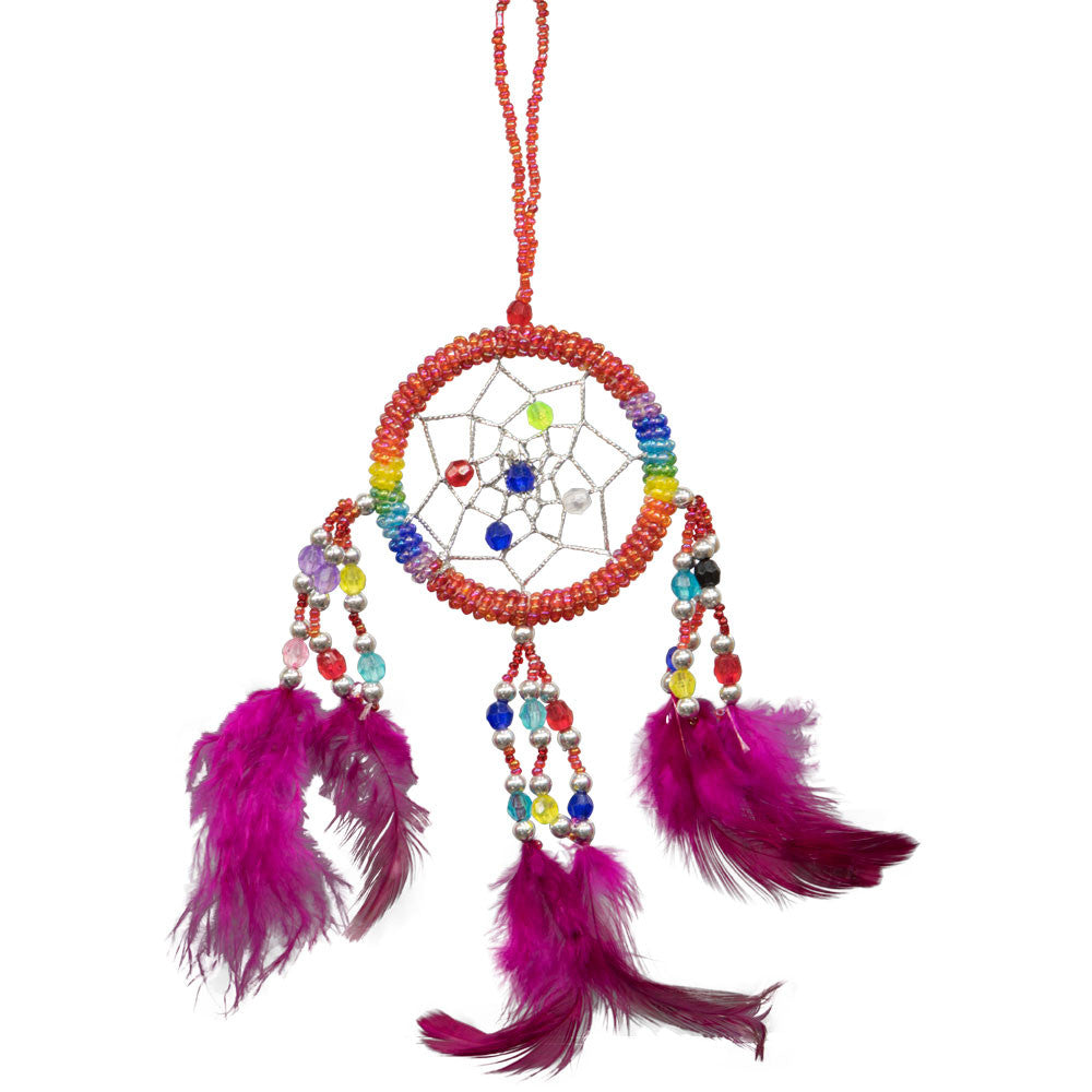Red Chakra Beaded Dreamcatcher Beaded