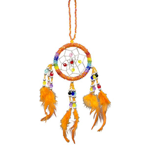 Orange Chakra Beaded Dreamcatcher