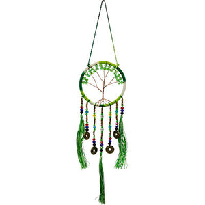 Lucky Green Tree of Life Dreamcatcher