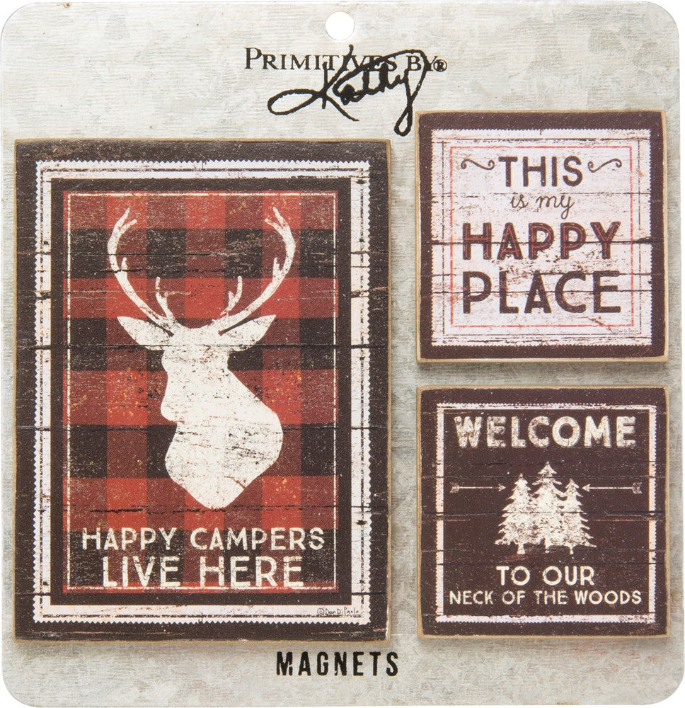 Happy Campers, Happy Place - Magnet Set
