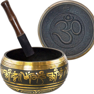 Embossed Singing Bowl Medium ~ Om