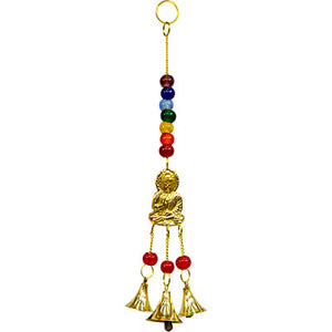 Brass Bell Chime with Chakras and Buddha