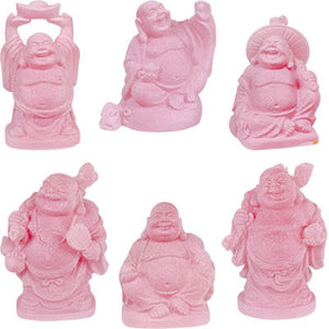 "2"" Pink Buddha Figurine (Safe Travels, Prosperity, Love, Spiritual Journey, Happy Home, and Long Life)"
