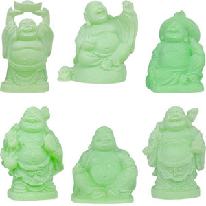 "2"" Green Buddha Figurines (Safe Travels, Prosperity, Love, Spiritual Journey, Happy Home, and Long Life)"
