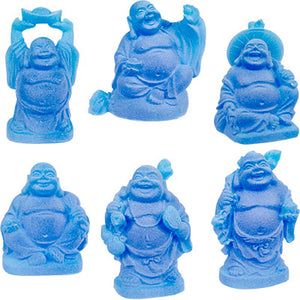 "2"" Blue Buddha Figurines (Safe Travels, Prosperity, Love, Spiritual Journey, Happy Home, and Long Life)"