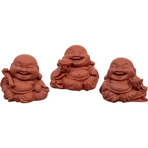 Terracotta Happy Buddha Figurines