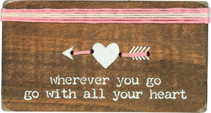 Go With All Your Heart - Stitched Block Magnet