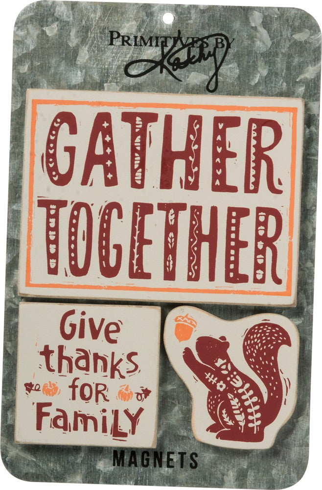 Autumn Family Gather Together - Magnet Set