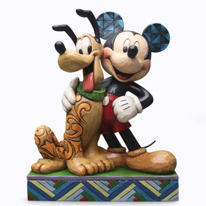 Mickey and Pluto by Jim Shore Disney Traditions