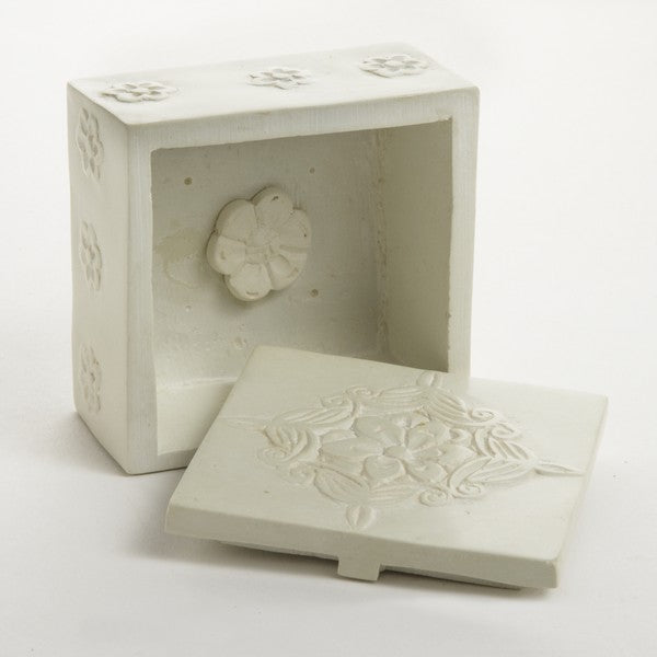 Flower Carving Kisii Stone Box ~ Global Artisan (Global Fair Trade)