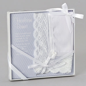 Baptism and Christening Heirloom Bonnet Gift Set