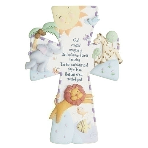 God Created Everything Baby Gift Cross