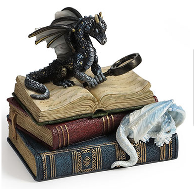 Miniature Scholars Dragons Books Trinket Box