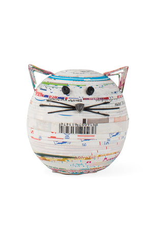 Recycled Coiled Paper Cat Box Handcrafted in Vietnam