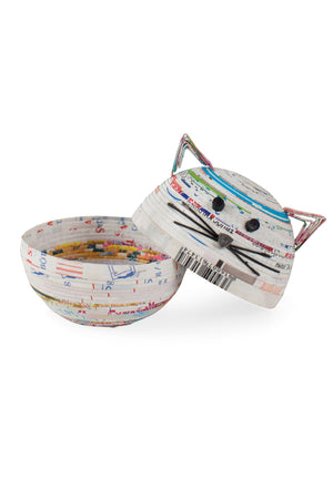 Recycled Coiled Paper Cat Box