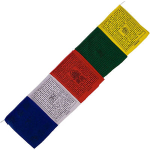 "Tibetan Prayer Flags ~ 25 Flaps 144"" Traditional Flags"