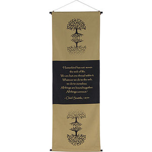 The Web of Life Cotton Inspirational Banner