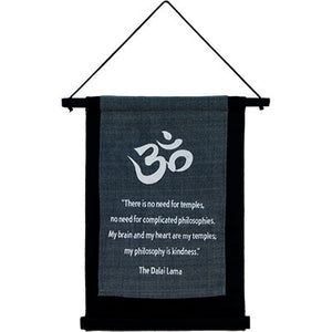 Inspirational Dalai Lama ~ Philosophy Is Kindness ~ Cotton Hanging Banner
