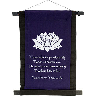 Yogananda ~ Cotton Hanging Banner