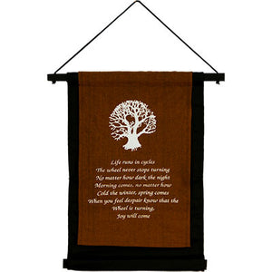 Inspirational Tree of Life ~ Cotton Hanging Banner