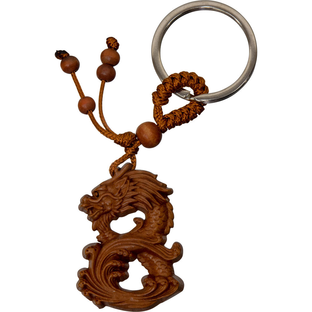 Protection Dragon Wood Keychain