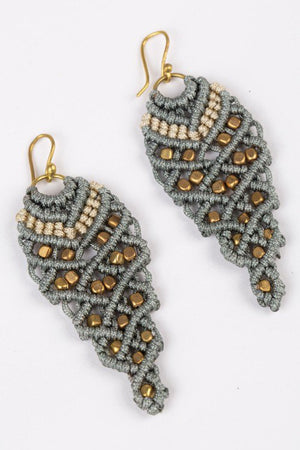 Regal Macramé Earrings