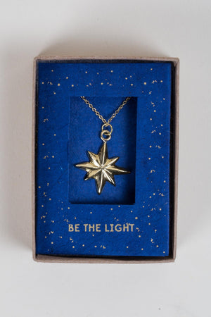 Be the Light Necklace Handcrafted in Nepal