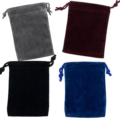 "Velvet Bag 3""x 4"" ~ Assorted Colors"