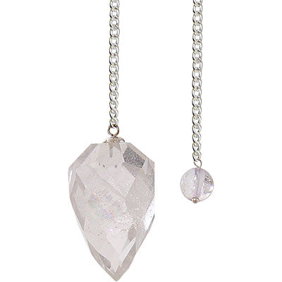 Light Diffuser Clear Quartz Pendulum