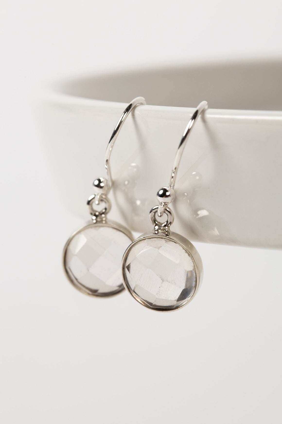 Crystal Drop Sterling Silver Earrings Handcrafted in Peru