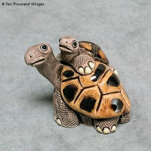 Turtle with Baby Ceramic Sculpture