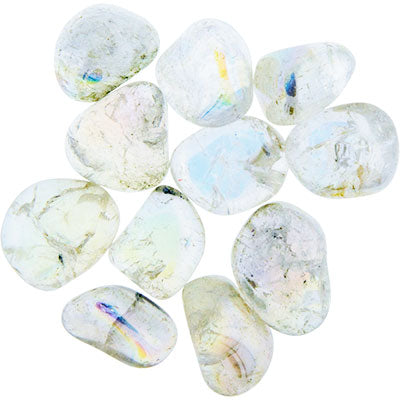 Angel White Aura Quartz Tumbled Stone