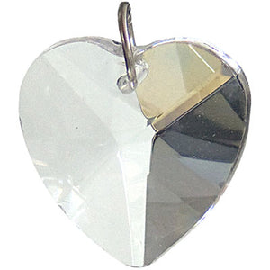 Heart-Shaped Clear Crystal Prism (20 mm)