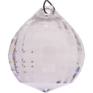 Matrix Faceted Ball Clear Crystal Prism (30 mm)