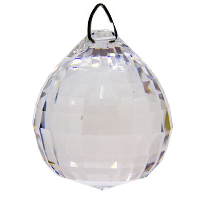 Matrix Faceted Ball Clear Crystal Prism (40 mm)