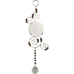 Flower of Life Wire Hanging Crystal