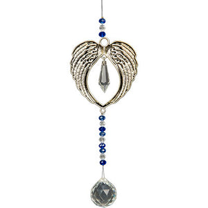 Angel Wings Hanging Crystal with Cut Glass Beads
