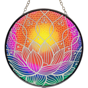 Lotus Glass Suncatcher