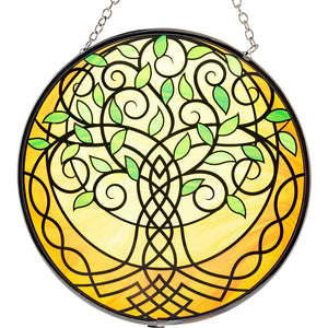 Celtic Tree of Life Glass Suncatcher