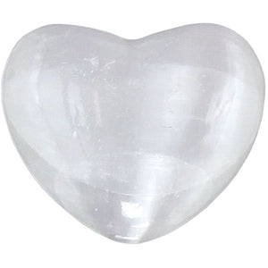 Full Moon Blessed Heart-Shaped Carved Selenite ~ a Joy Alchemy Gift