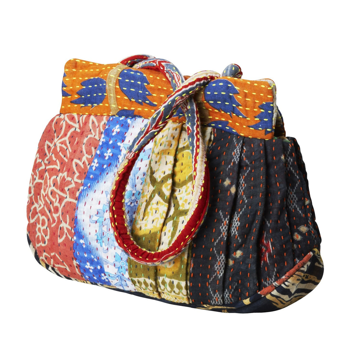 Kantha Stitch Sari Bag