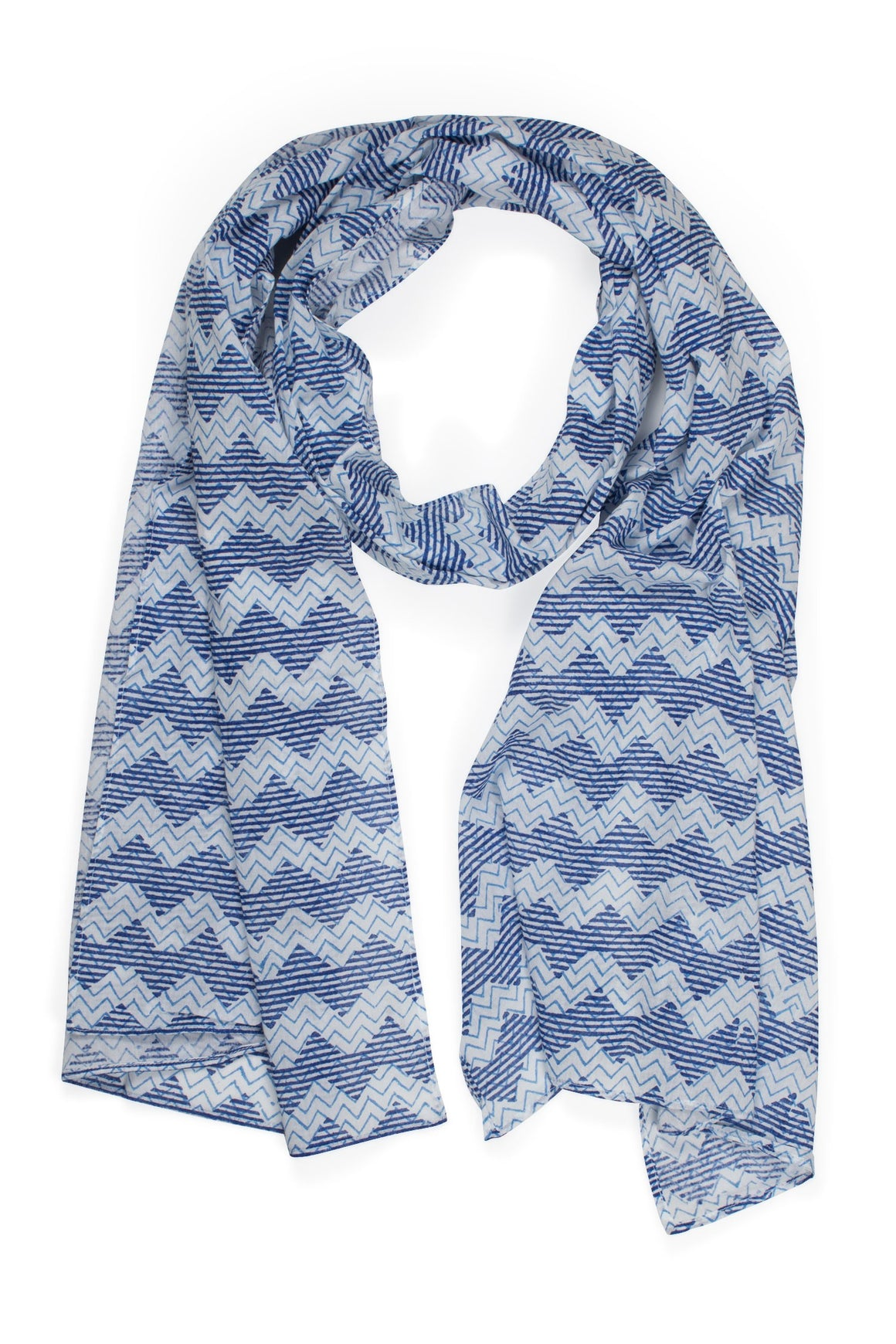 Thousand Waves Cotton Scarf