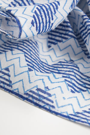 Thousand Waves Cotton Scarf Handcrafted in India