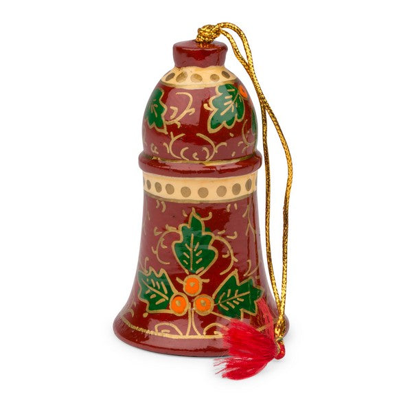 Holly Jolly Bell Ornament ~ Global Artisan (Global Fair Trade)