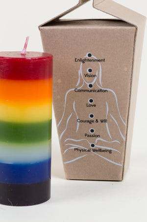 Chakra Meditation Candle  Handcrafted in India